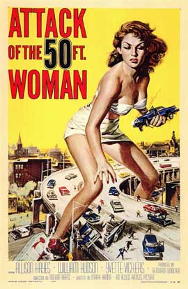 Attack of the 50 Foot Woman - 11 x 17 Movie Poster - Style A