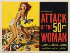 Attack of the 50 Foot Woman - 11 x 14 Movie Poster - Style A