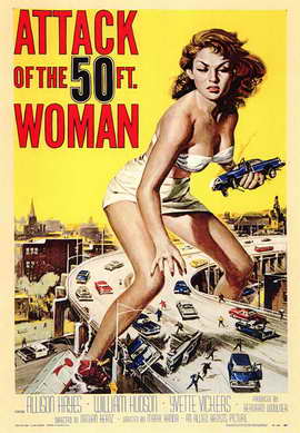 Attack of the 50 Foot Woman - 43 x 62 Movie Poster - Bus Shelter Style A