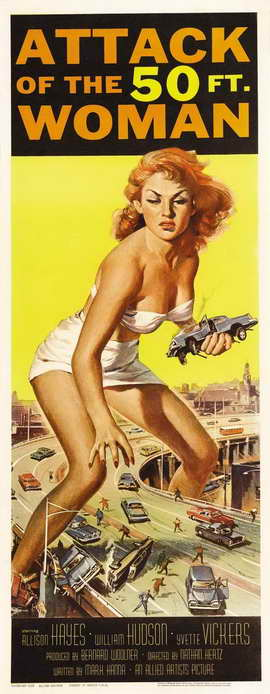 Attack of the 50 Foot Woman - 14 x 36 Movie Poster - Insert Style A
