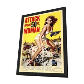 Attack of the 50 Foot Woman - 27 x 40 Movie Poster - Style A - in Deluxe Wood Frame