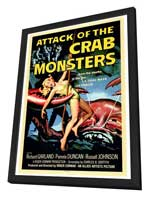 Attack of the Crab Monsters - 27 x 40 Movie Poster - Style A - in Deluxe Wood Frame