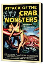 Attack of the Crab Monsters - 11 x 17 Movie Poster - Style A - Museum Wrapped Canvas