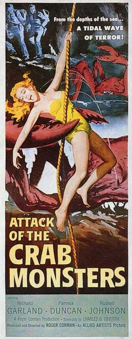Attack of the Crab Monsters - 11 x 17 Movie Poster - Style B