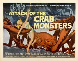 Attack of the Crab Monsters - 11 x 17 Movie Poster - Style C