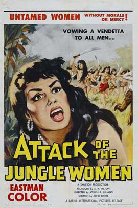Attack of the Jungle Women - 11 x 17 Movie Poster - Style A