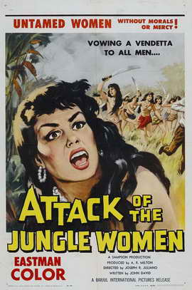 Attack of the Jungle Women - 27 x 40 Movie Poster - Style A