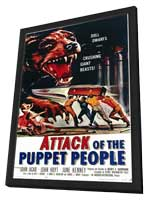 Attack of the Puppet People - 11 x 17 Movie Poster - Style A - in Deluxe Wood Frame