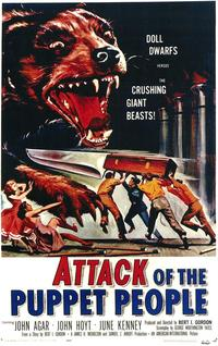 Attack of the Puppet People - 43 x 62 Movie Poster - Bus Shelter Style A