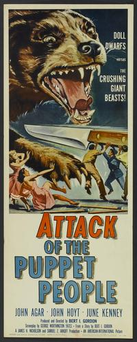 Attack of the Puppet People - 14 x 36 Movie Poster - Insert Style A