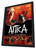 Attica - 11 x 17 Movie Poster - UK Style A - in Deluxe Wood Frame