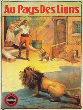 Au pays des lions - 11 x 17 Movie Poster - French Style A
