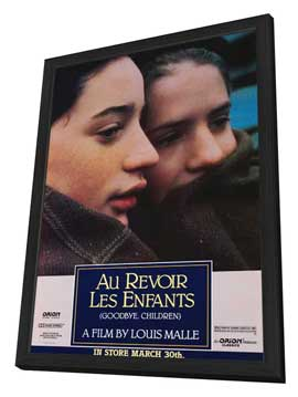 Au Revoir les Enfants - 27 x 40 Movie Poster - Style A - in Deluxe Wood Frame