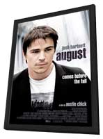 August - 11 x 17 Movie Poster - UK Style A - in Deluxe Wood Frame