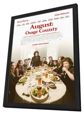 August: Osage County - 27 x 40 Movie Poster - Style A - in Deluxe Wood Frame