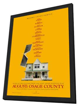 August: Osage County - 27 x 40 Movie Poster - Style B - in Deluxe Wood Frame