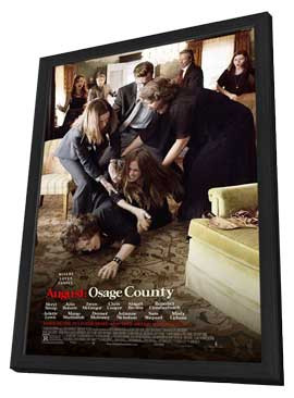 August: Osage County - 27 x 40 Movie Poster - Style C - in Deluxe Wood Frame