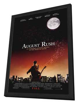 August Rush - 27 x 40 Movie Poster - Style A - in Deluxe Wood Frame
