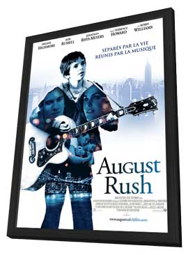 August Rush - 11 x 17 Movie Poster - French Style A - in Deluxe Wood Frame