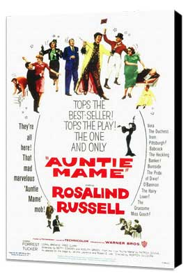 Auntie Mame - 11 x 17 Movie Poster - Style A - Museum Wrapped Canvas