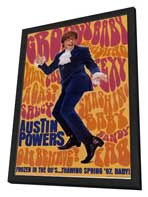 Austin Powers: International Man of Mystery - 11 x 17 Movie Poster - Style C - in Deluxe Wood Frame