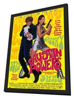 Austin Powers: International Man of Mystery - 11 x 17 Movie Poster - Style D - in Deluxe Wood Frame