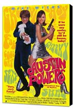 Austin Powers: International Man of Mystery - 11 x 17 Movie Poster - Style D - Museum Wrapped Canvas