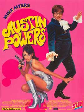 Austin Powers: International Man of Mystery - 11 x 17 Movie Poster - French Style A