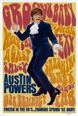 Austin Powers: International Man of Mystery - 27 x 40 Movie Poster - Style B
