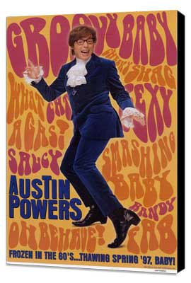 Austin Powers: International Man of Mystery - 11 x 17 Movie Poster - Style C - Museum Wrapped Canvas