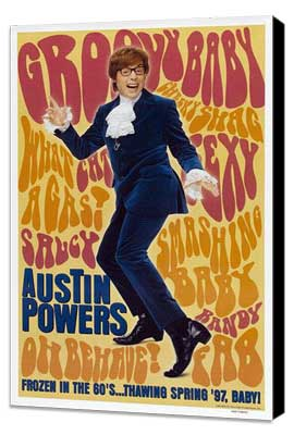 Austin Powers: International Man of Mystery - 27 x 40 Movie Poster - Style B - Museum Wrapped Canvas