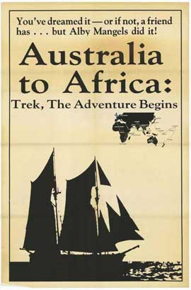 Australia To Africa, Trek The Adventure Begins - 11 x 17 Movie Poster - Style A