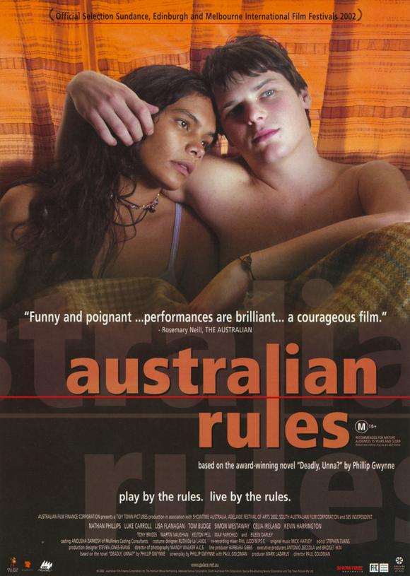 australian rules the movie Picturing a golden age: september and australian rules  the film was  produced by the tropfest feature fund and the movie network channels, and  was.