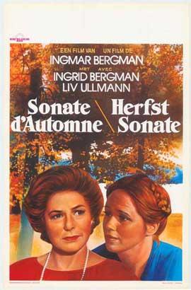 Autumn Sonata - 11 x 17 Movie Poster - Belgian Style A