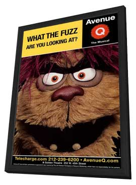 Avenue Q (Broadway) - 11 x 17 Poster - Style C - in Deluxe Wood Frame