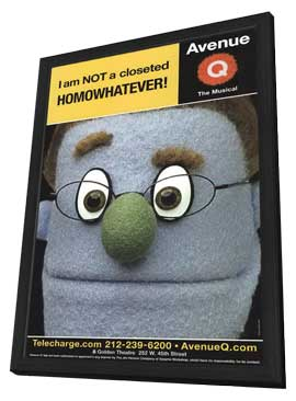 Avenue Q (Broadway) - 11 x 17 Poster - Style D - in Deluxe Wood Frame