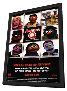 Avenue Q (Broadway) - 14 x 22 Poster - Style E - in Deluxe Wood Frame
