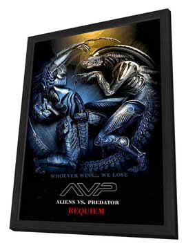 AVPR: Aliens vs Predator - Requiem - 27 x 40 Movie Poster - Style L - in Deluxe Wood Frame