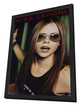 Avril Lavigne - 11 x 17 Music Poster - Style A - in Deluxe Wood Frame
