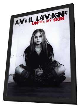 Avril Lavigne - 11 x 17 Music Poster - Style B - in Deluxe Wood Frame