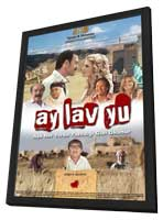 Ay Lav Yu - 11 x 17 Movie Poster - Turkish Style B - in Deluxe Wood Frame