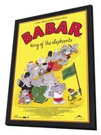 Babar: King of the Elephants - 11 x 17 Movie Poster - Style A - in Deluxe Wood Frame