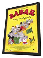 Babar: King of the Elephants - 27 x 40 Movie Poster - Style A - in Deluxe Wood Frame