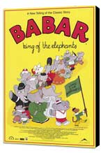 Babar: King of the Elephants - 11 x 17 Movie Poster - Style A - Museum Wrapped Canvas