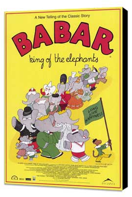 Babar: King of the Elephants - 27 x 40 Movie Poster - Style A - Museum Wrapped Canvas