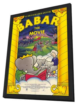 Babar: The Movie - 11 x 17 Movie Poster - Style A - in Deluxe Wood Frame