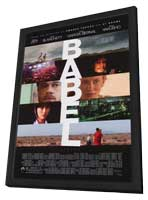 Babel - 27 x 40 Movie Poster - Style A - in Deluxe Wood Frame