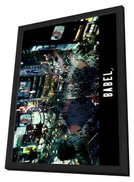 Babel - 11 x 17 Movie Poster - Style D - in Deluxe Wood Frame