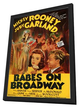 Babes on Broadway - 11 x 17 Movie Poster - Style B - in Deluxe Wood Frame