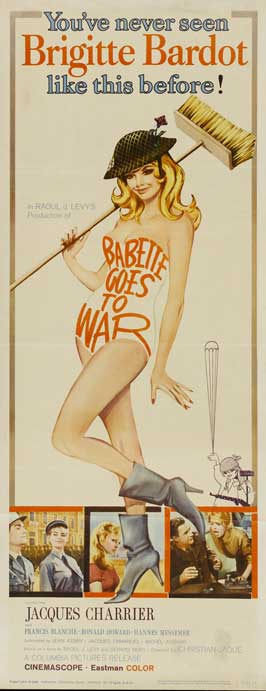 Babette Goes To War - 14 x 36 Movie Poster - Insert Style A